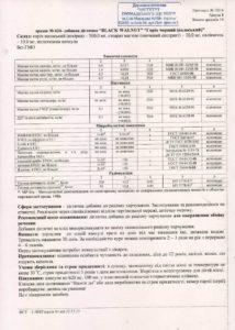 Сертификат Грецкий черный орех NSP