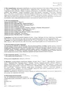 Сертификат Gotu Kola NSP