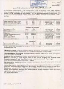 Сертификат Железо Хелат NSP