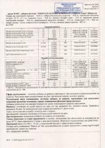 Сертификат Простата формула NSP